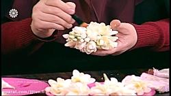 آموزش گل مریم خمیری ، م...