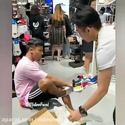 دوربین مخفی دزدی از کفش...