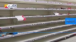 قفسه های نیمه خالی فروشگاه های زنجیره ای فرانسه
