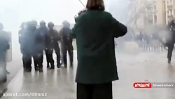 خشونت، درگیری، گاز اشک ...