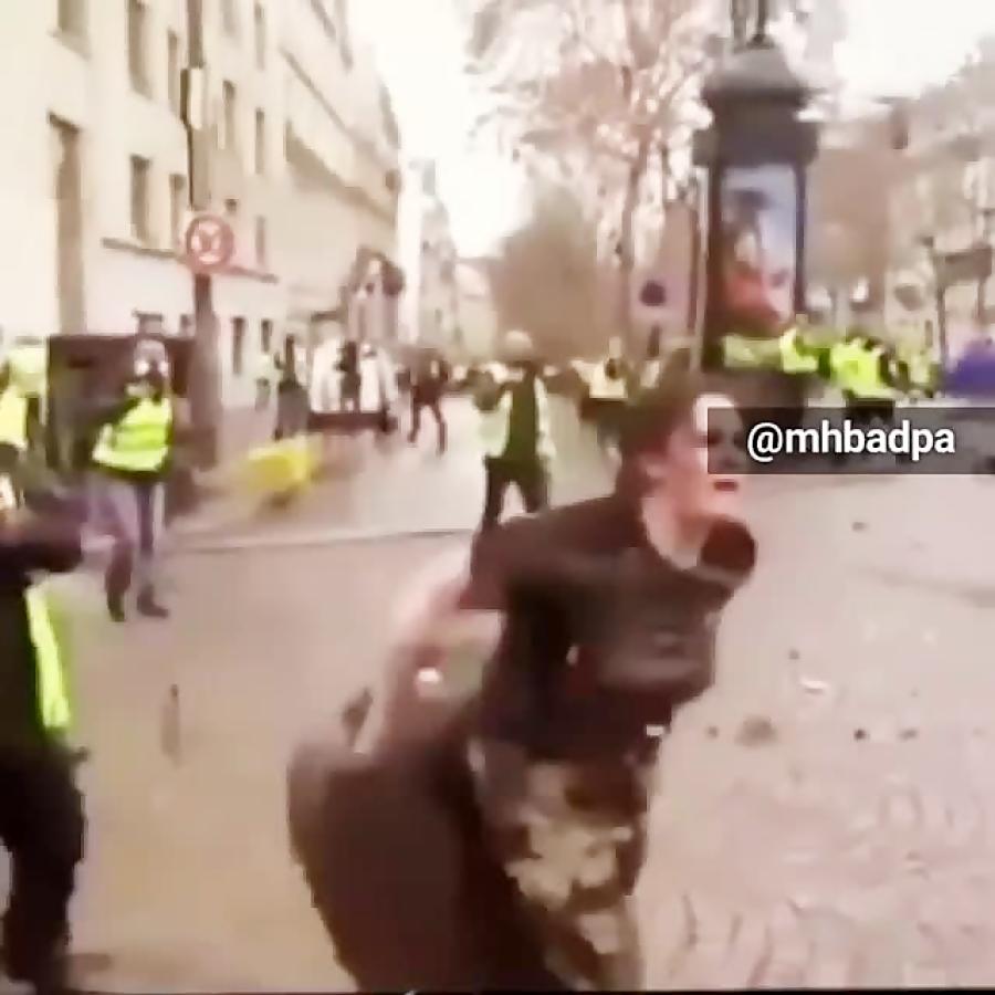 شورش در فرانسه/ درگیری های پلیس با مردم