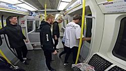 مسابقه با مترو به سبک پارکور