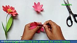 آموزش ساخت گل با کاغذ شماره 33