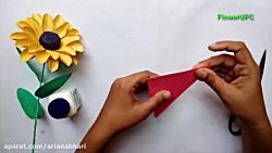 آموزش ساخت گل با کاغذ شماره 26