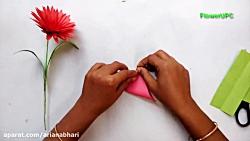 آموزش ساخت گل با کاغذ شماره 27