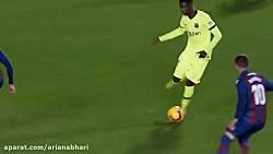 خلاصه بازی بارسلونا و لوانته