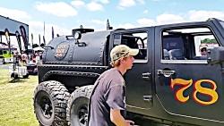 جیپ 6 چرخ سه دیفرانسیل با پیشرانه بخار  Steam Powered Jeep  6x6