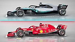 مقایسه خودروهای فرمول یک مرسدس و فراری 2018 F1 -  Mercedes and Ferrari compare