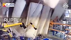 لحظه وحشتناک ریزش سقف یک کارخانه در روسیه