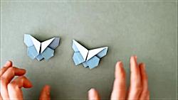 اوریگامی پروانه – آموزش ساخت پروانه کاغذی – کاردستی