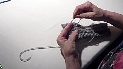 آموزش بافت دستکش بافتنی دومیل زیبا