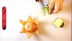 ویژه شب یلدا – آموزش میوه آرایی و تزیین هویج جالب و دیدنی