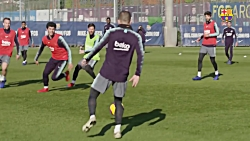 تمرین امروز بارسلونا ب...