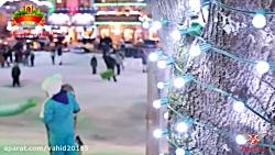 عید کریسمس برفی در واشن...