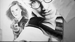 Drawing Harry Potter, Hermione and Ron
