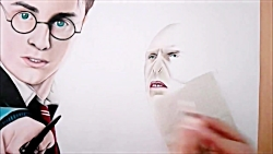 Drawing Harry Potter and Voldemort