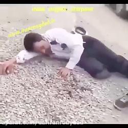نخستین فیلم از زیرگرفتن پلیس که در ایران رویداد