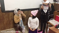 اجرای نمايش مورچه ريزه توسط دختران هنرمند كلاس سوم دبستان باران اندیشه رشت