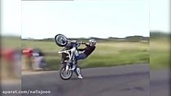 تصادف موتور سنگین در مسابقه