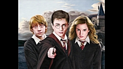 Drawing Harry Potter, Ron Weasley, and Her...