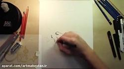طراحی آزاد سیاه قلم چهر...