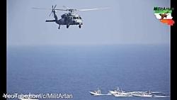 کلیپ دیدنی از رزمایش دریایی سپاه پاسدران انقلاب اسلامی