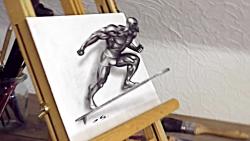 Silver Surfer 3D Drawing | Marvel Superher...