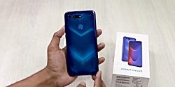جعبه گشایی و نگاه اول به Huawei Honor View 20 رنگ آبی