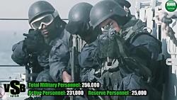 مقایسه قدرت نظامی ارتش ...