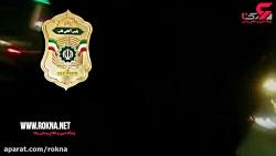 لحظه پر هیجان تعقیب و گریز ماشین پلیس و دزدان در تهران