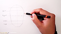 آموزش طراحی چهره دختر و...