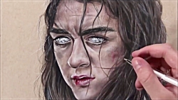 Drawing Arya Stark - Game Of Thrones