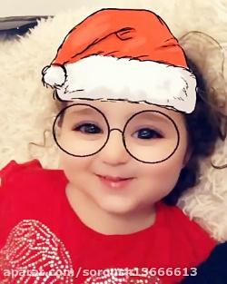 تبریک کریسمس توسط دختر ...