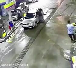 انفجار در پمپ گاز