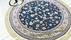 فرش گرد ماشینی کاشان با قیمت