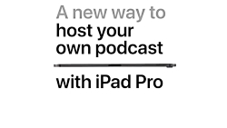 iPad Pro — A new way to host your own po...