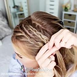 آموزش مدل بافت موی ساده و شیک