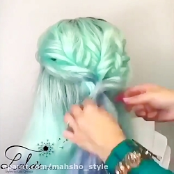 آموزش مدل موی فانتزی برای موی رنگ شده