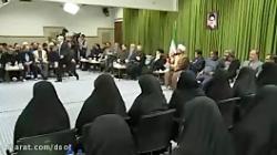 شعرخوانی درباره شهادت حضرت فاطمه زهرا (س) در محضر رهبر انقلاب ...