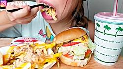 ❤چالش غذا خورری همبرگر...