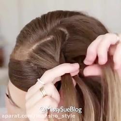 آموزش بافت موی ساده برای موی بلند