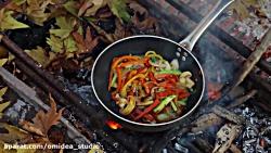 آشپزی در طبیعت ،نودل سب...