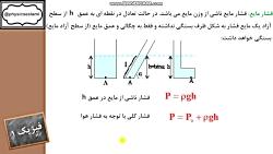 ویدیو تدریس فشار در مایع فصل دوم فیزیک دهم