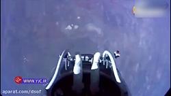 لحظاتی نفسگیر از پریدن یک فضانورد اتریشی از ایستگاه فضایی به سمت زمین