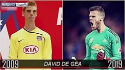 چالش تغییر چهره 10 ساله بازیکنان مشهور فوتبال