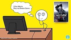 گیمر هایی که آنلاین بازی می کنند vs گیمر هایی که آفلاین بازی می کنند.