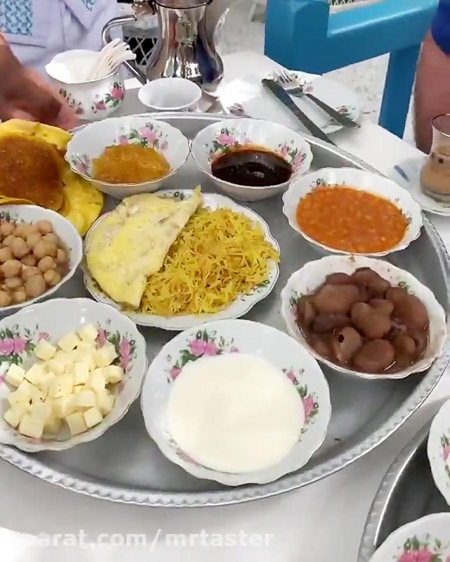 صبحانه مشتی در عربین تی هاوس دبی