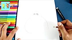 نقاشی گامبالو از انیمیشن بچه رئیس - آموزش نقاشی کودکان