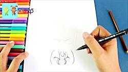 نقاشی بچه رئیس - آموزش نقاشی به کودکان
