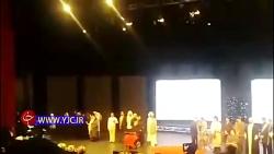 تک خوانی زن در افتتاحیه جشنواره فیلم فجر و در حضور وزیر ارشاد!
